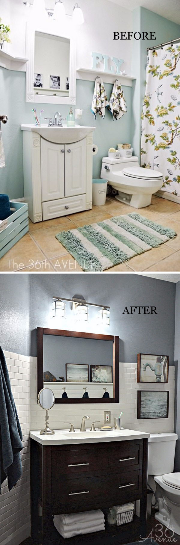 bathroom makeover pictures before and after before and after 20 awesome bathroom makeovers hative 24911