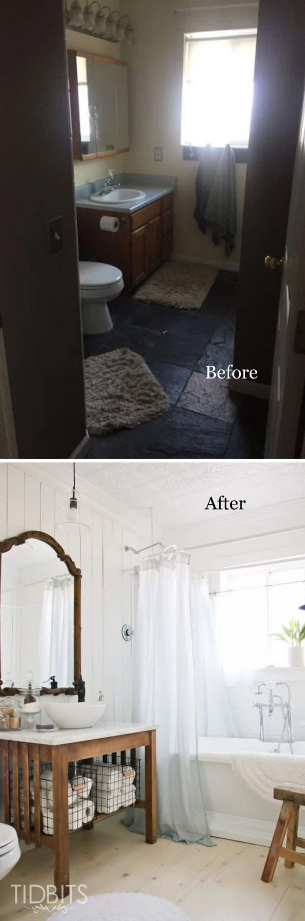 Cottage Bathroom Makeover.