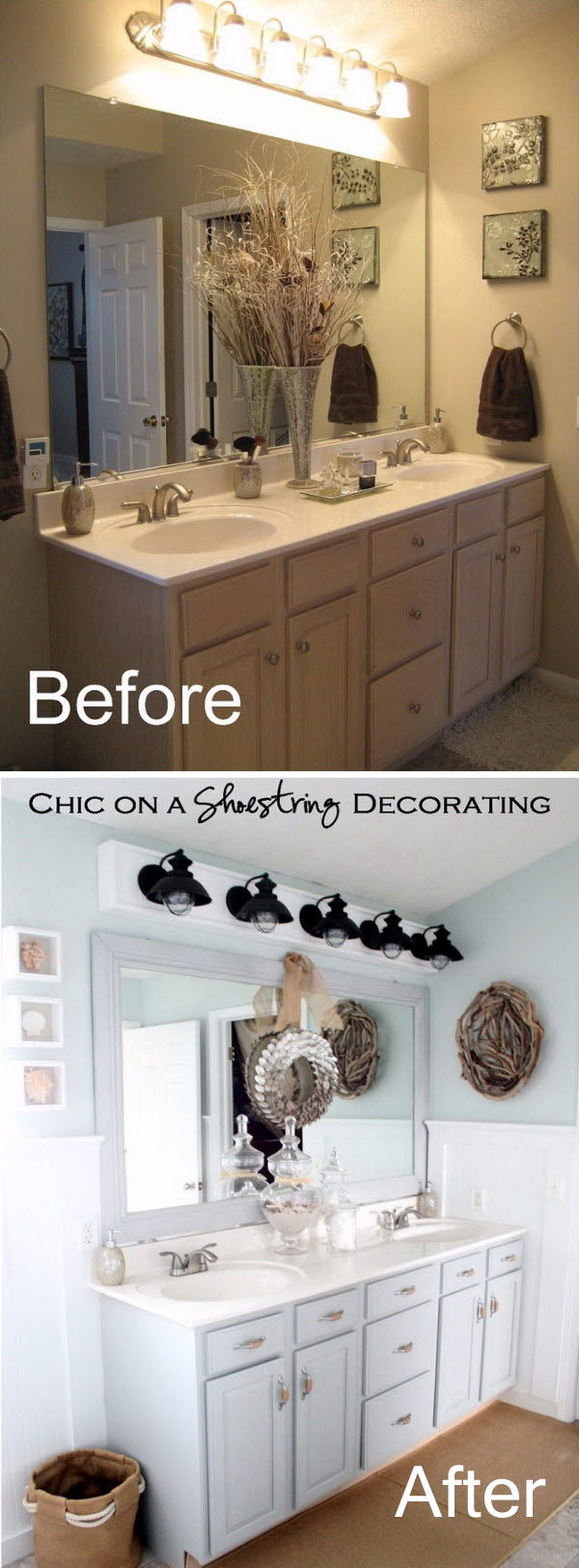 Pleasing Before And After 20 Awesome Bathroom Makeovers Hative Best Image Libraries Thycampuscom