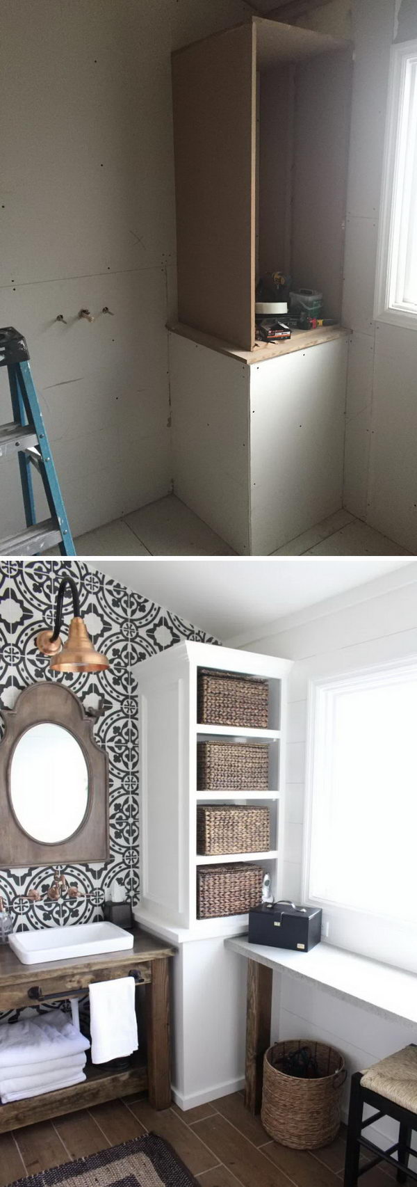 Before And After Awesome Bathroom Makeovers Hative - Modern bathroom makeovers