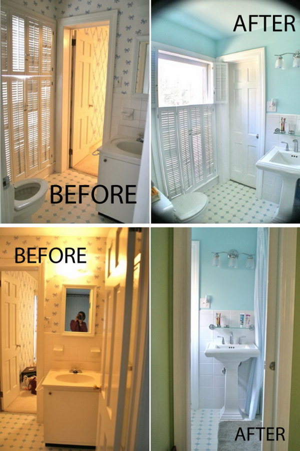Before and after 20 awesome bathroom makeovers hative - Before and after small bathroom remodels ...