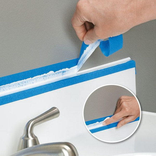 how to clean white caulking