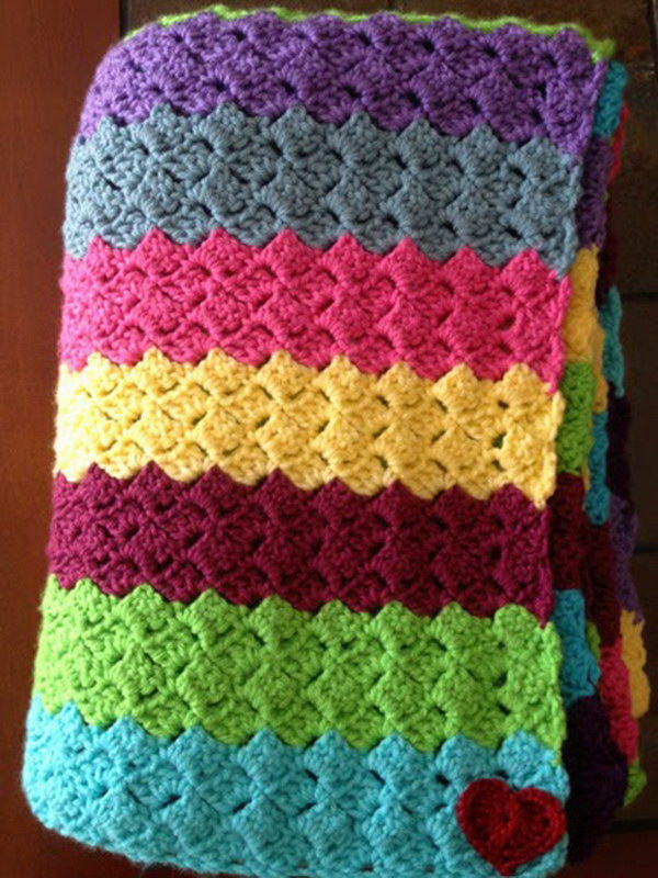 Free Crochet Pattern For A Blanket : Cool & Easy Crochet Blankets With Lots of Tutorials and ...
