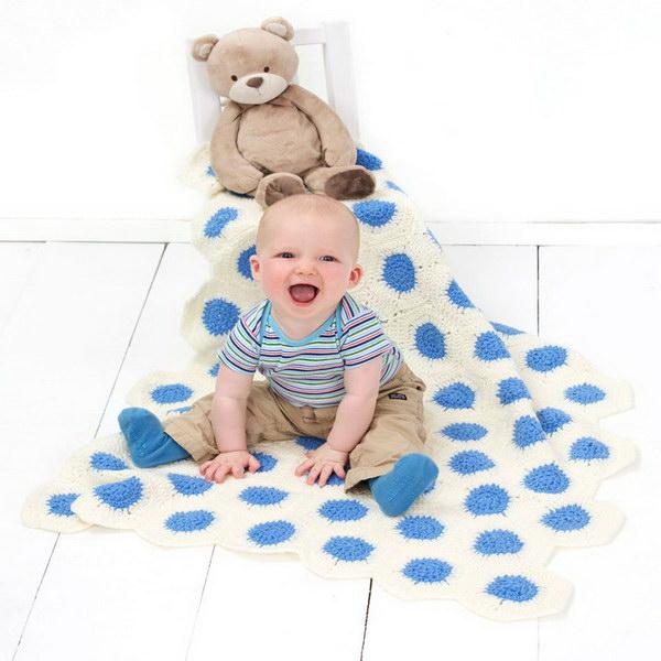 Polka Dot Baby Blanket.