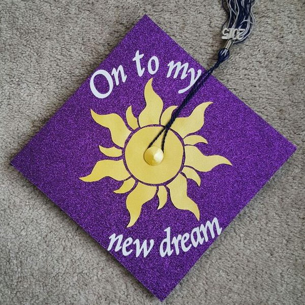 Disney's Tangled Inspired Graduation Cap.