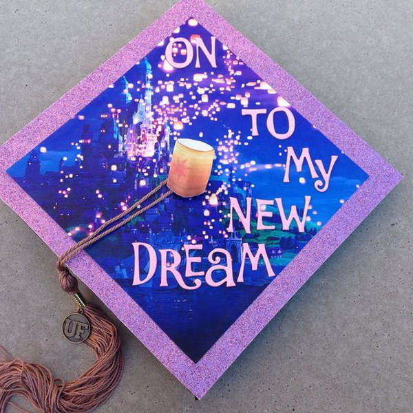 Disney Tangled Graduation Cap.