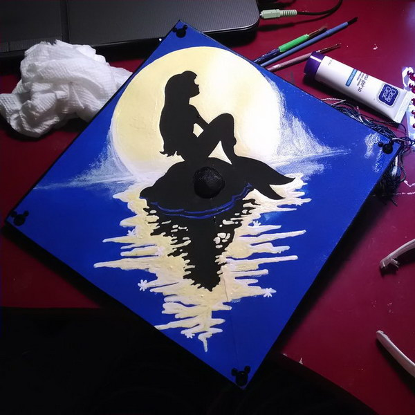 Little Mermaid Graduation Cap.