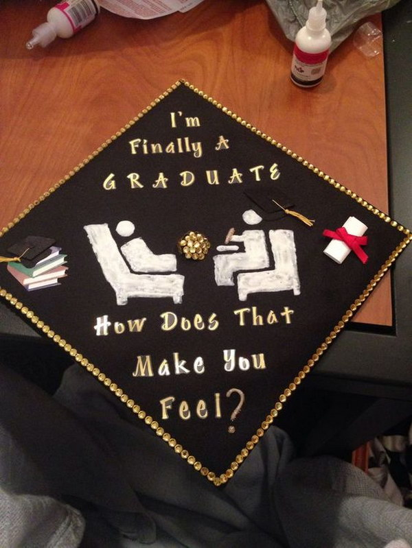 Graduation Cap With Psychology Humor.