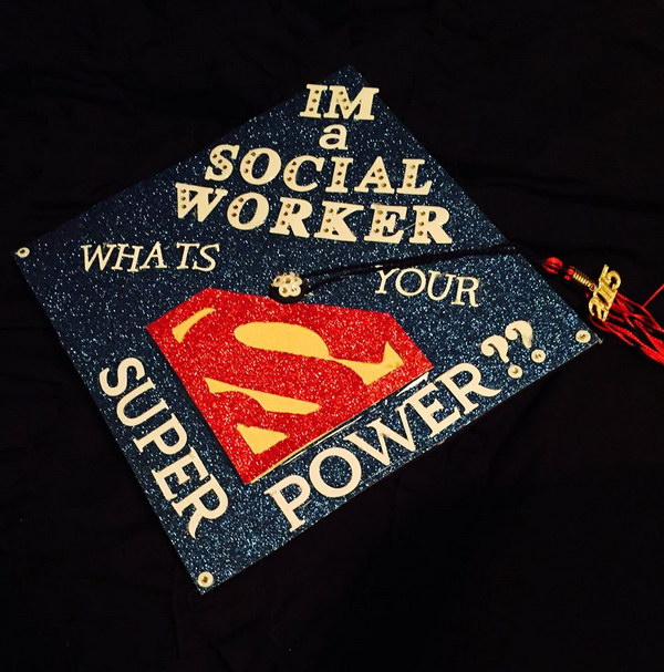 Interesting Social Work Graduation Cap.