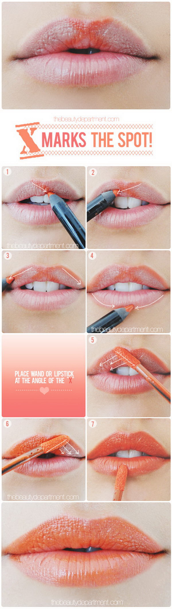 Make a Subtle Difference with X Markers on Your Upper Lip.