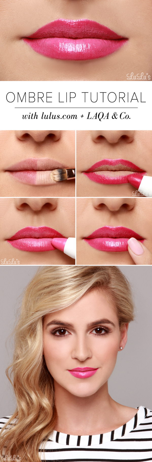 How to Get Pink Ombre Lip.