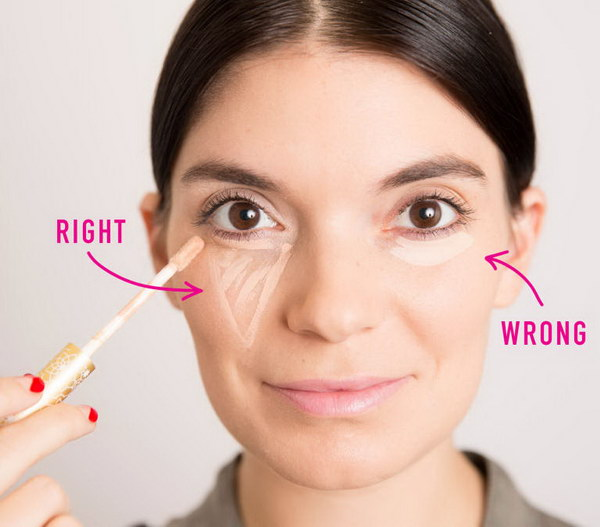 The Most Flattering Way to Apply Concealer.