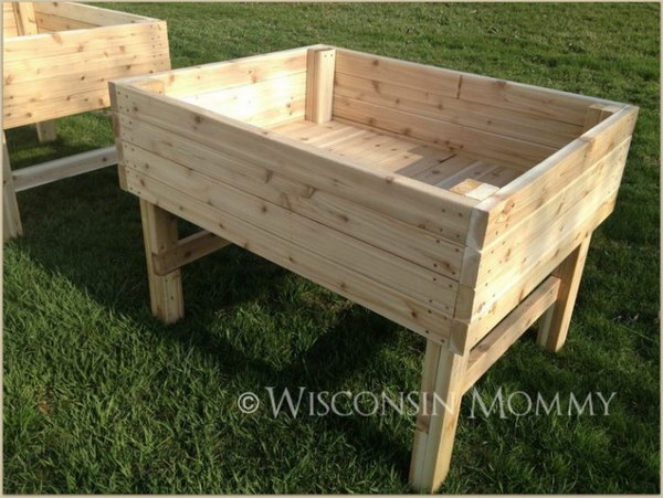 DIY Elevated Raised Garden Beds.