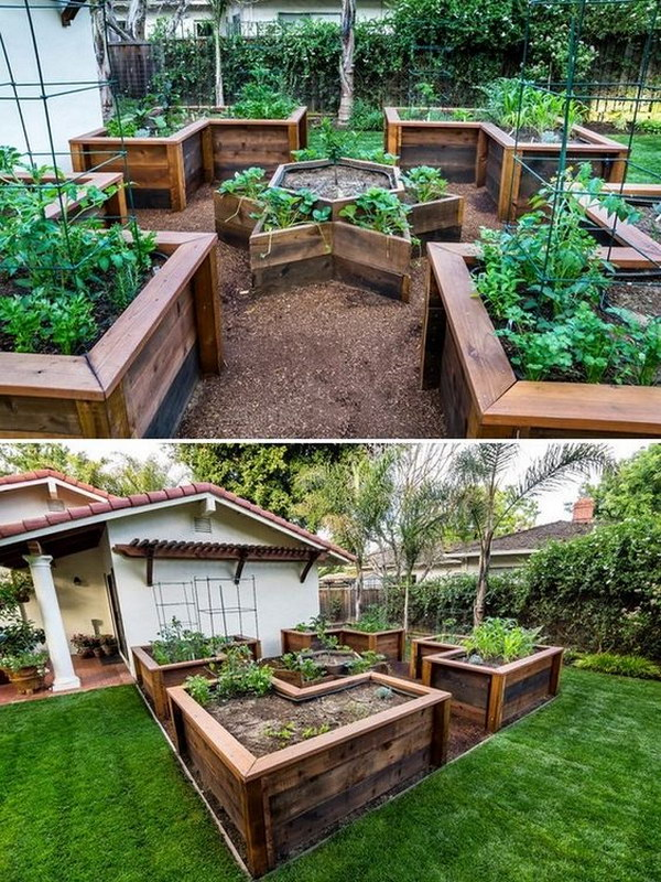30 raised garden bed ideas hative for Designing a large garden from scratch