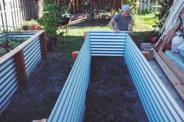 Easy Metal U0026 Wood Garden Bed