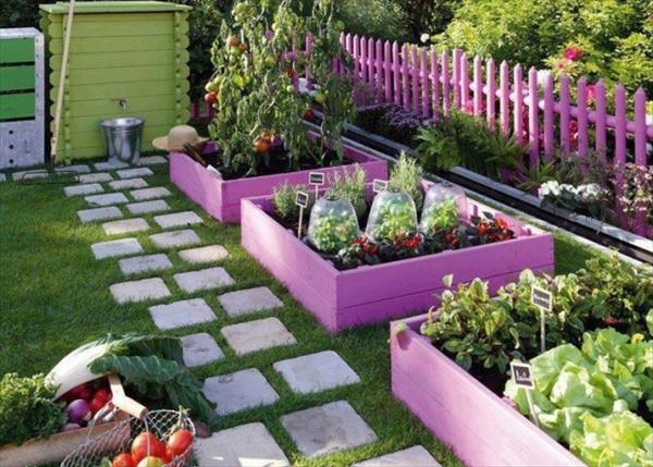 Garden Ideas With Wood 35 creative backyard designs adding interest to landscaping ideas Diy Beautiful Painted Pallet Garden Beds
