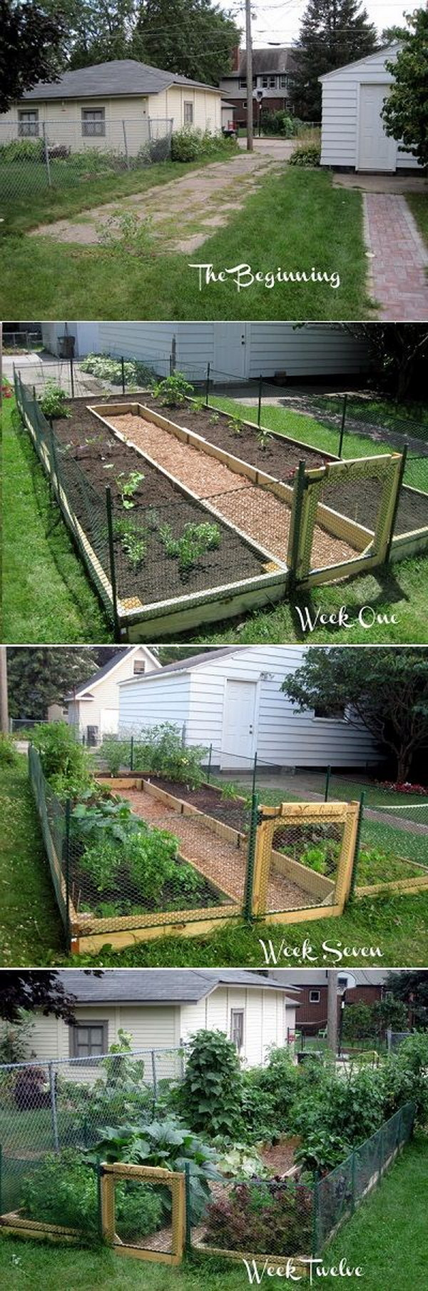 DIY U Shaped Raised Garden Bed.