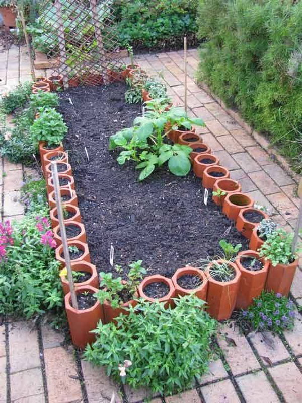 Raised Garden Bed Ideas raised garden bed ideas magazine recycled garden planter ideas for fence garden Diy Raised Garden Beds From Old Terracotta Pipes