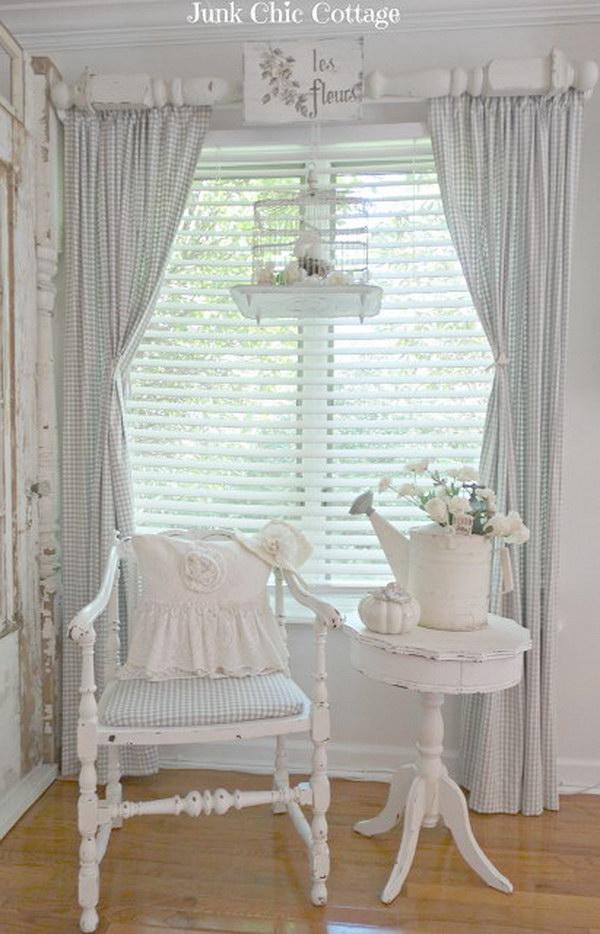 Shabby Chic Window Treatment.