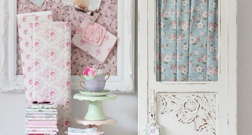 Beautiful Shabby Chic Fabric Decorations