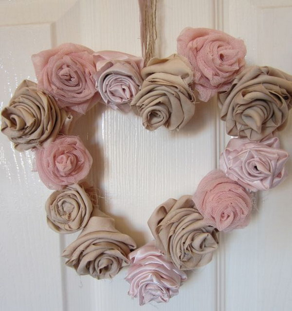 Coffee Filter Wreath Shabby Chic