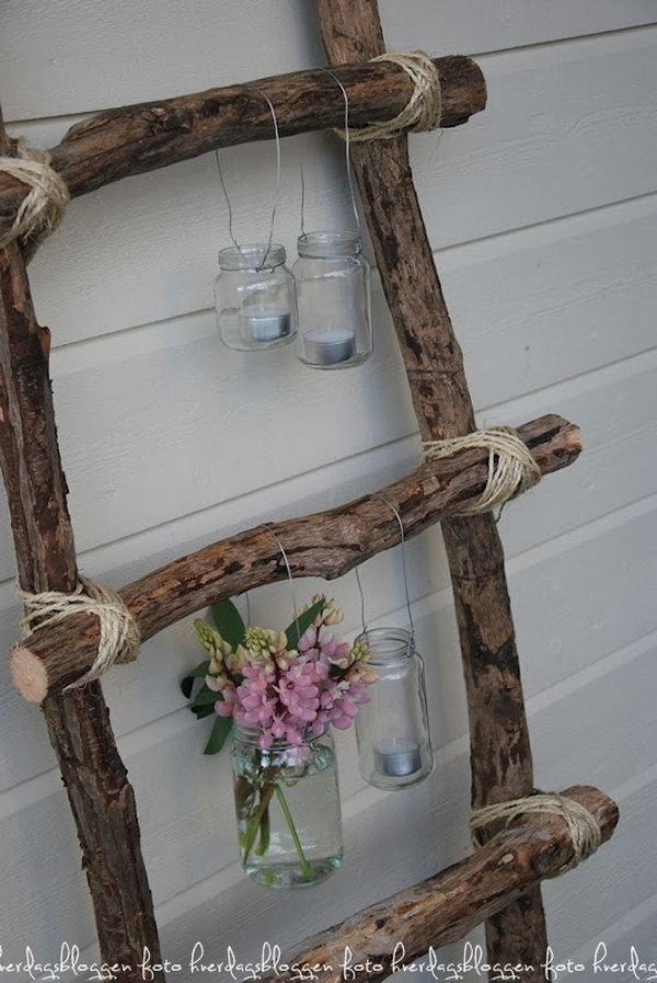 Shabby Ladder Decoration