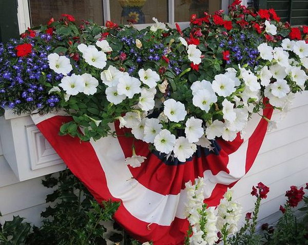 Window Box Decoration for July 4th.