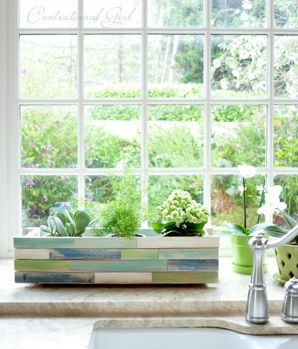 Wood Shim Window Box Planter.