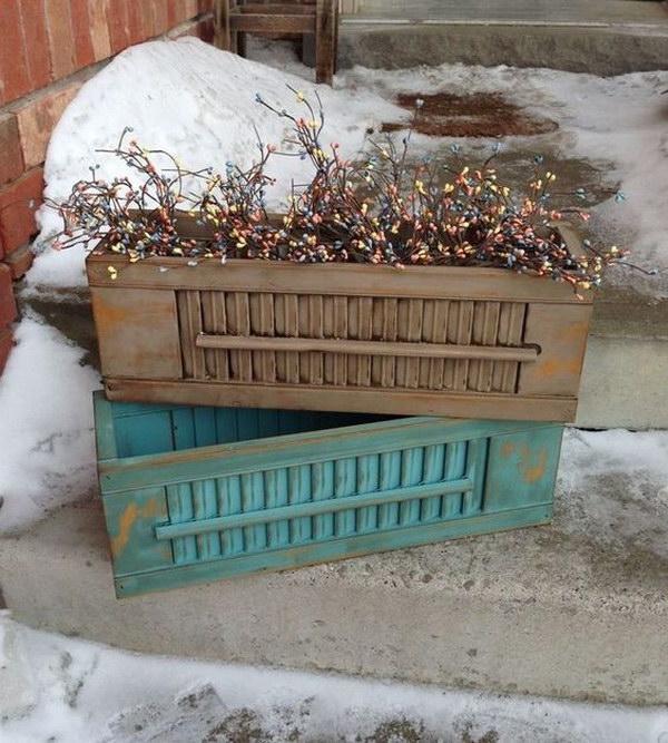 Repurposed Shutter Window Boxes.