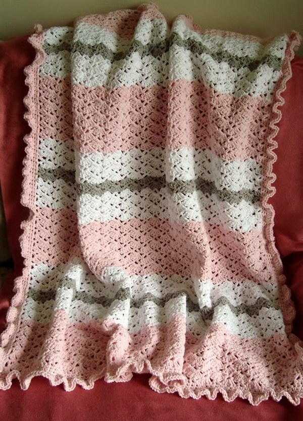 Baby Love Blanket Free Crochet Pattern : Cool Crochet Patterns & Ideas For Babies - Hative