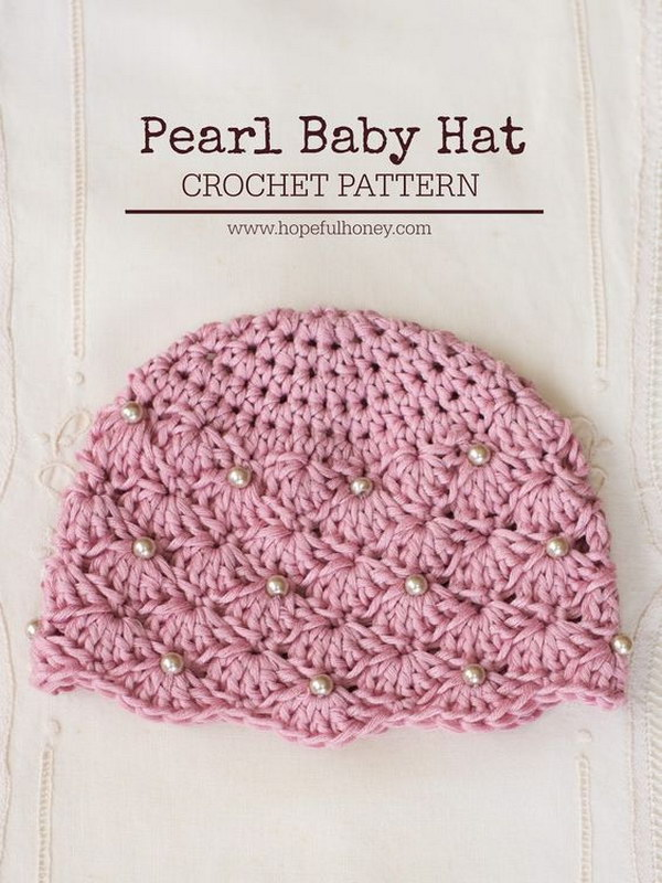 Cool crochet patterns ideas for babies hative vintage style pearl baby hat free crochet pattern ccuart