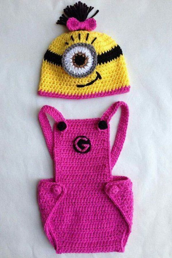 Cool Crochet Patterns Ideas For Babies Hative Enchanting Free Minion Crochet Pattern