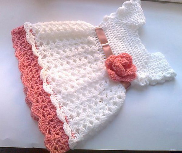 Free Crochet Baby Dress Patterns Easy : Cool Crochet Patterns & Ideas For Babies - Hative