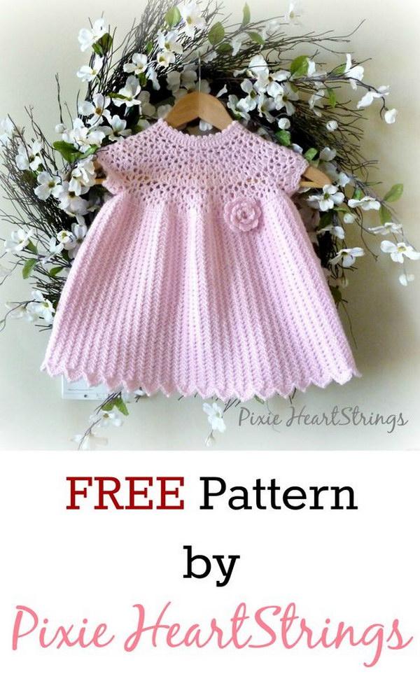 Free Pattern Crochet Baby Dress : Cool Crochet Patterns & Ideas For Babies - Hative
