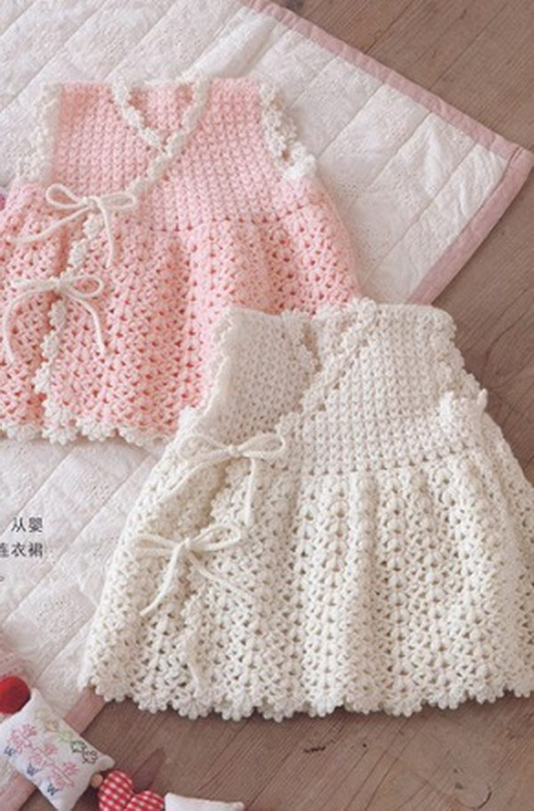 Cool crochet patterns ideas for babies hative crochet baby dress free crochet diagram pattern ccuart