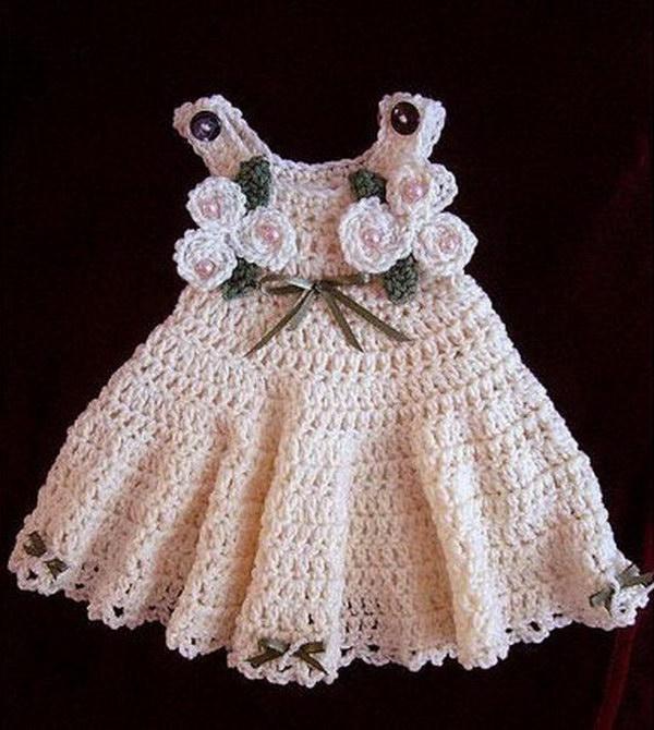 Crochet Pattern of Baby Dress.