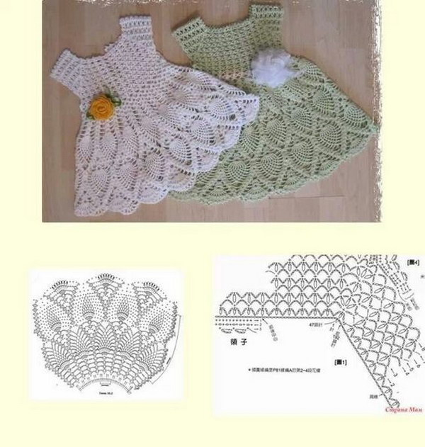 Cool crochet patterns ideas for babies hative baby dress ccuart Image collections