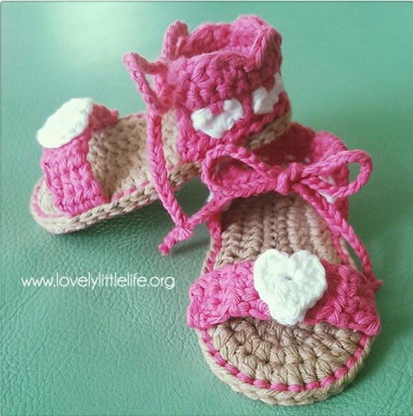 Teeny Tiny Heart Sandals.