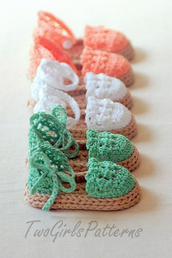 Crochet Pattern Baby Girl Sandals : Cool Crochet Patterns & Ideas For Babies - Hative