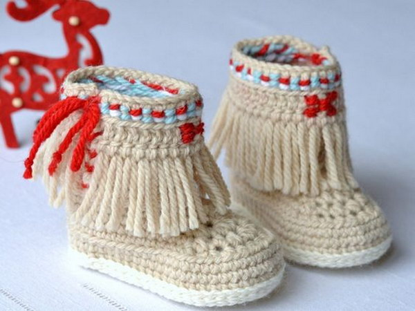 Baby Booties Free Crochet Pattern Moccasins : Cool Crochet Patterns & Ideas For Babies - Hative
