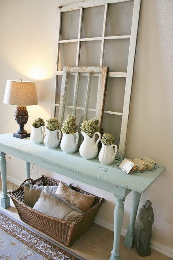 Diy Shabby : DIY Shabby Chic Entryway Table