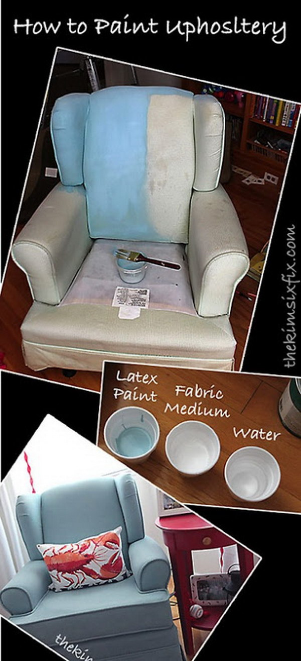 Shabby chic painted rocking chairs - Painted Fabric Chair