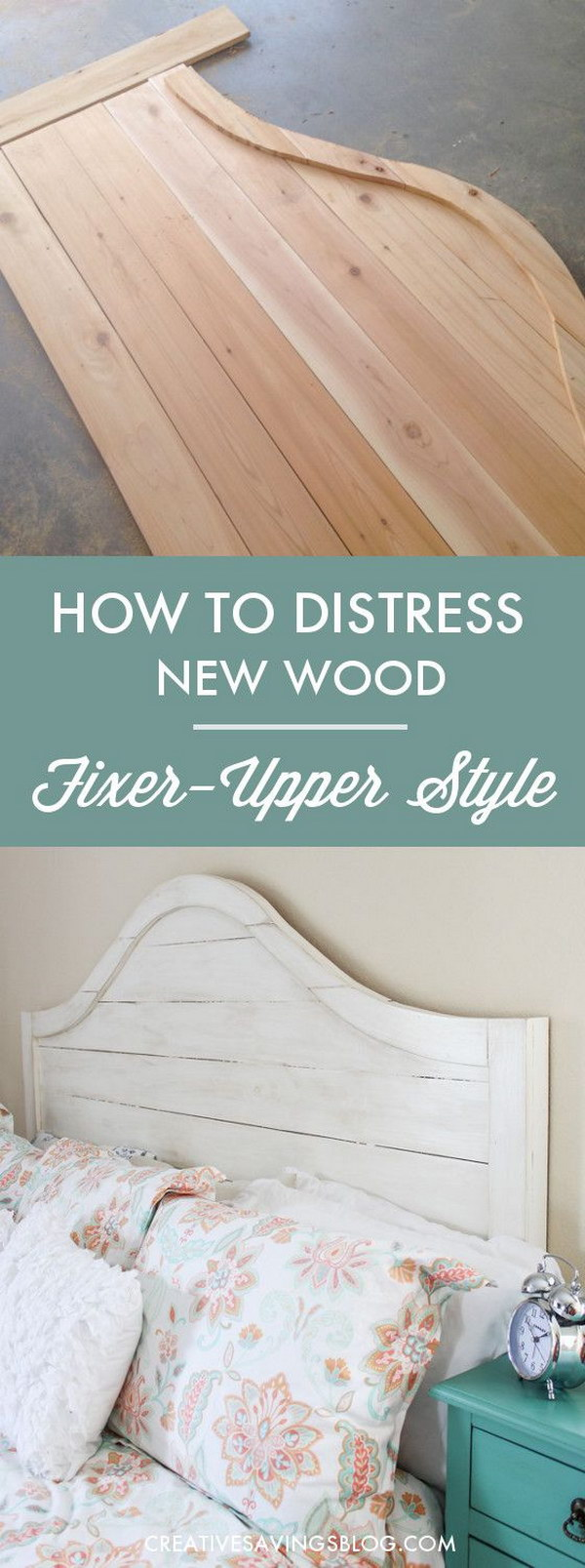Diy shabby chic furniture - Distress New Wood To Shabby Chic Style Headboard