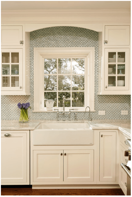 White Milk Glass Subway Tile Backsplash & 35 Beautiful Kitchen Backsplash Ideas - Hative