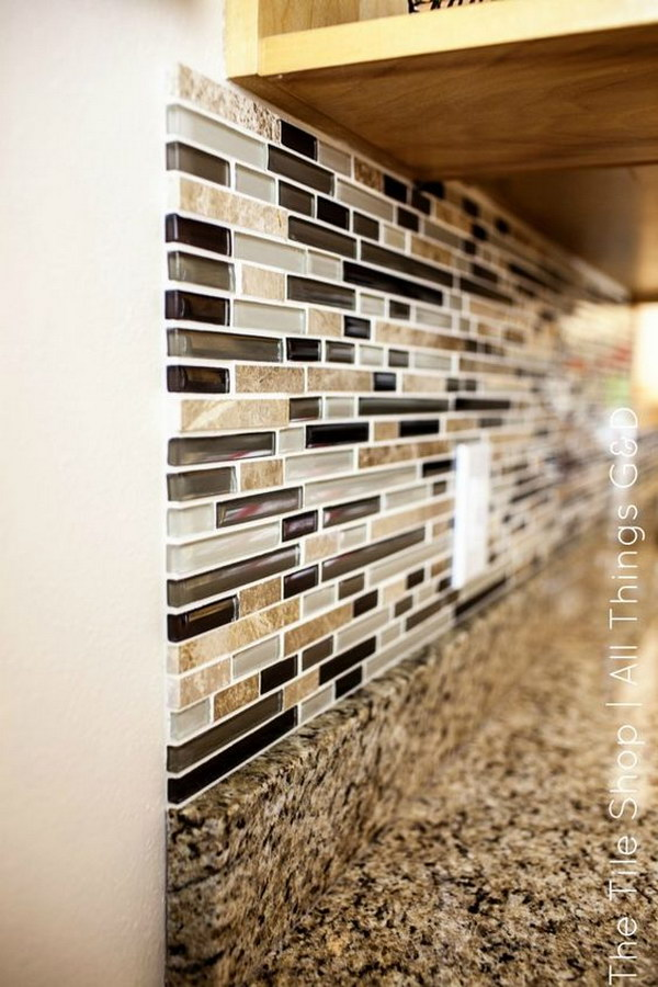 how to put up stone backsplash
