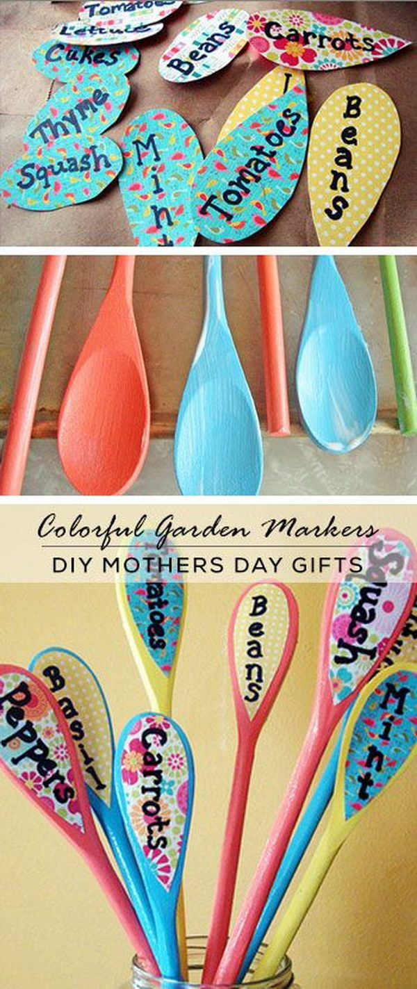 DIY Wooden Spoon Plant Markers