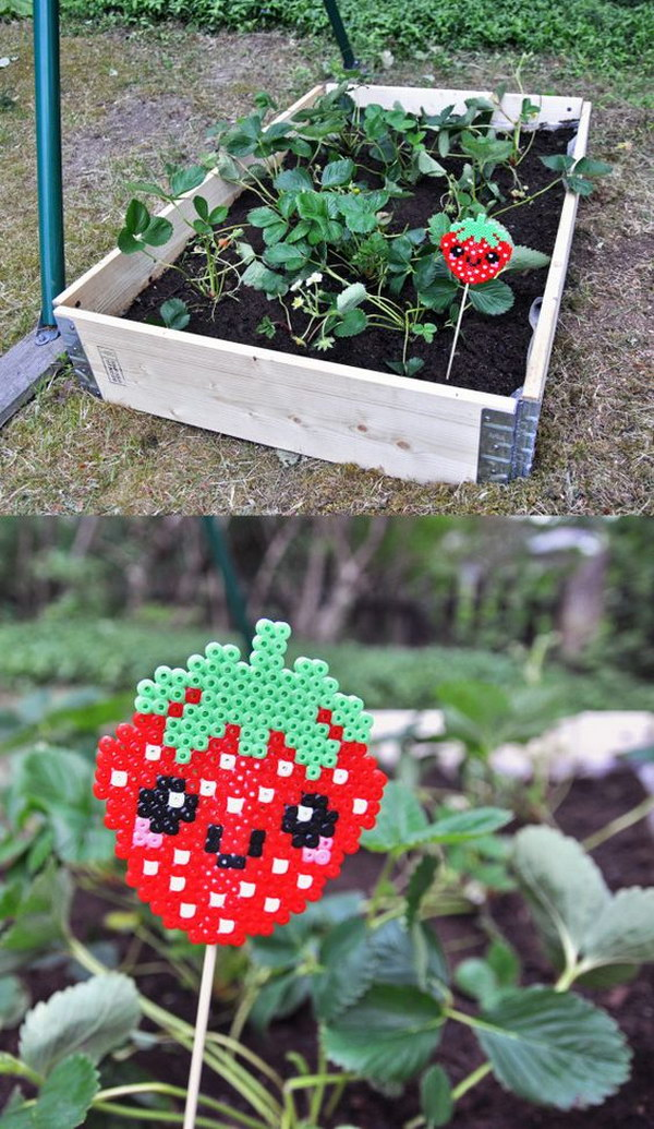 DIY Strawberry Perler Bead Marker
