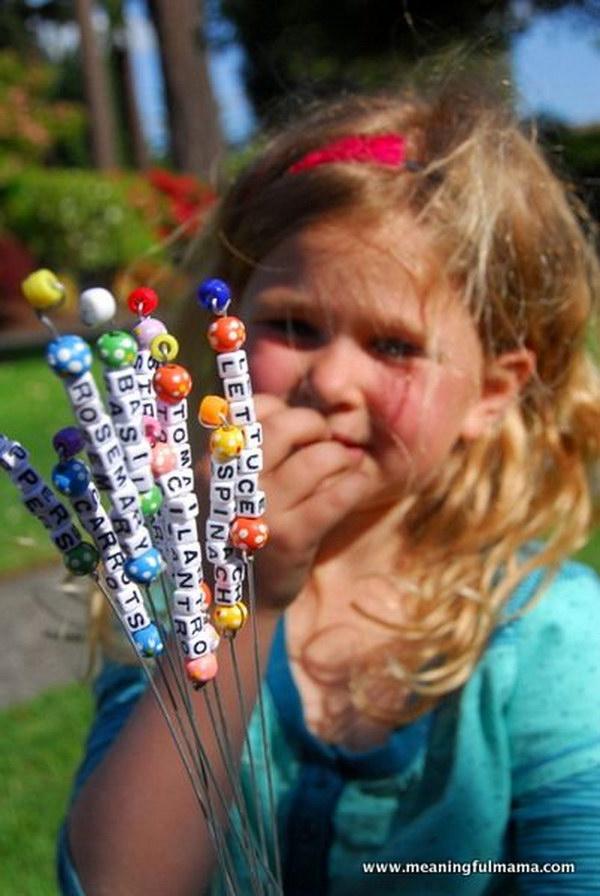 DIY Bead Garden Markers