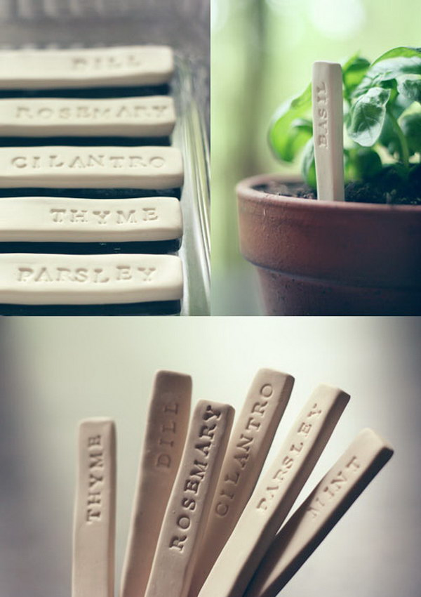 30 DIY Plant Label & Marker Ideas For Your Garden - Hative