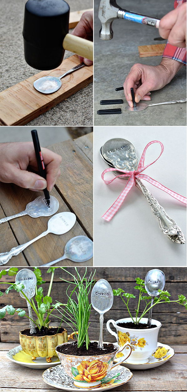 Stamped Spoons Plant Markers